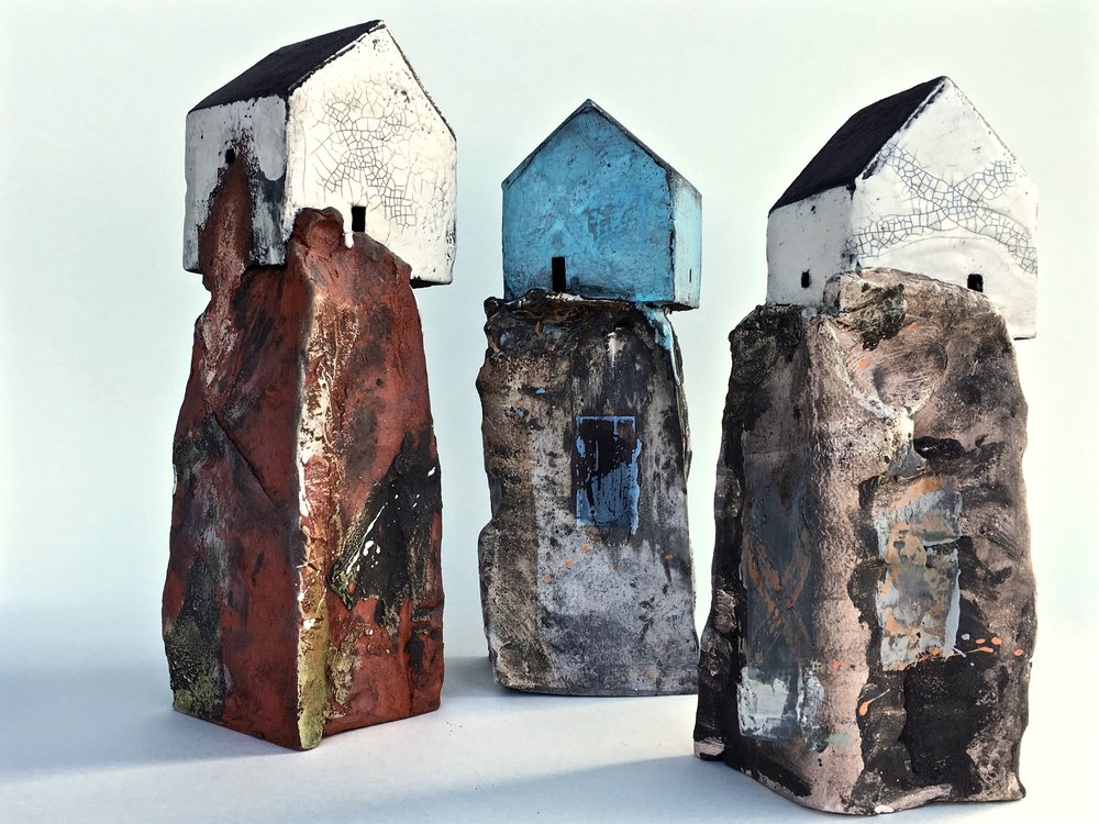Houses on rocks