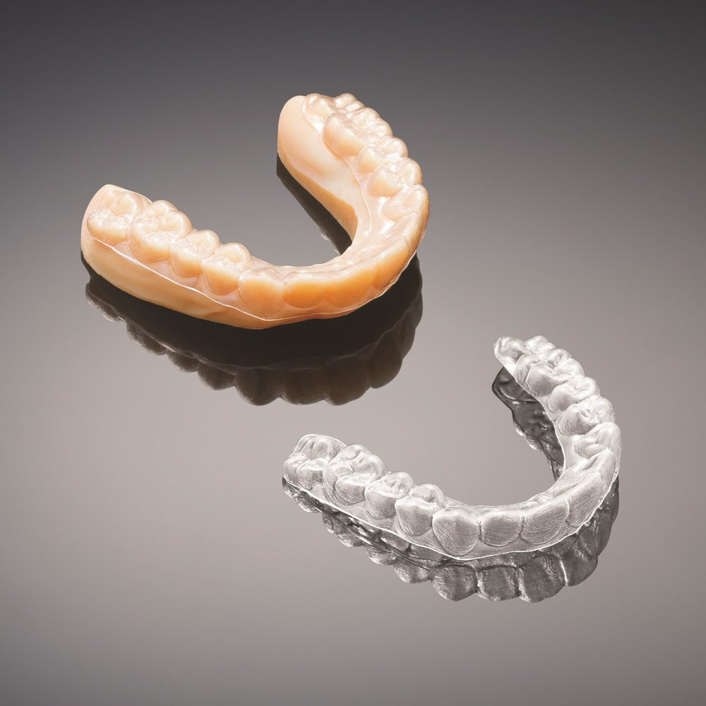 3D printing is essential to the process of making clear aligners.