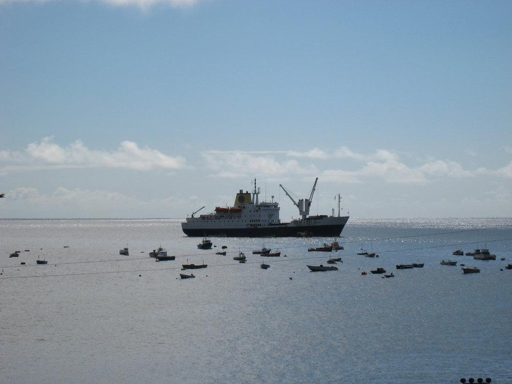 The RMS St Helena in Jamestown Port.jpg