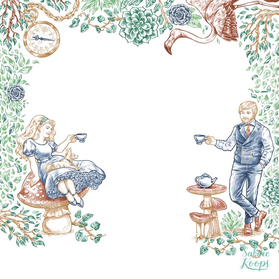 Illustration für Hochzeitseinladung