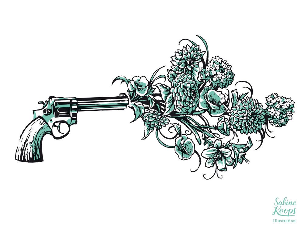 Sabine_Koops_Illustration_Illustrator_Mode_chilibangbang_fashion_flowers_gun_peace_Waffe_Pistole_Blumen_Pflanzen_Frieden_digital.jpg
