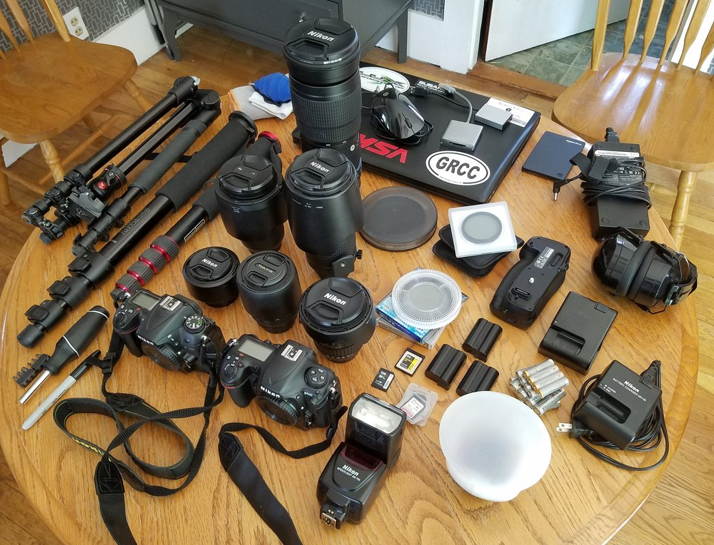 I snapped this photo to show the folks in the Greater Rochester Camera Club the amount of gear and preparation that goes into a race weekend.