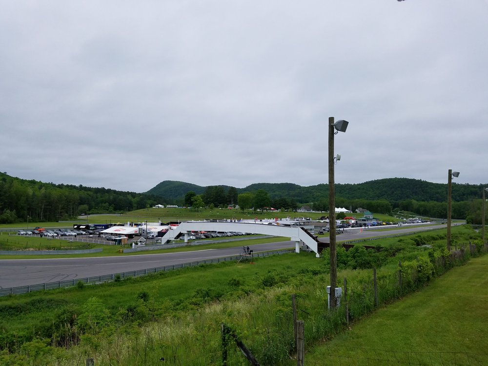 The view from the Lime Rock Driver's Club chalet.