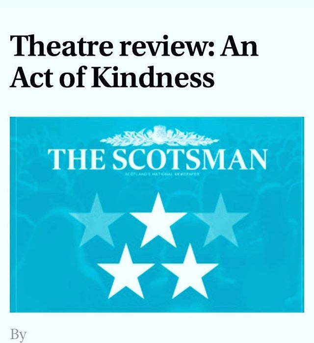 ⭐️⭐️⭐️'There is a sweet sincerity to this warmly funny two­hander'  Thank you @TheScotsman Catch us at C-Cubed @Cvenues at 16:10 today!  http://www.scotsman.com/lifestyle/culture/edinburgh-festivals/theatre-review-an-act-of-kindness-1-4527924 #edinburghfringe #edfringe2017 #fringetheatre #AnActOfKindness #Scotsman #stars #busstop