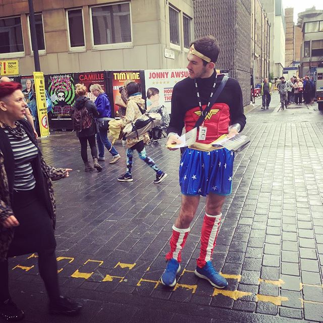 Keep an eye out for Wonder Woman on the mile today! #AnActOfKindness on at 16.10, C Venues #edfringe #edinburgh70 #edfringe17