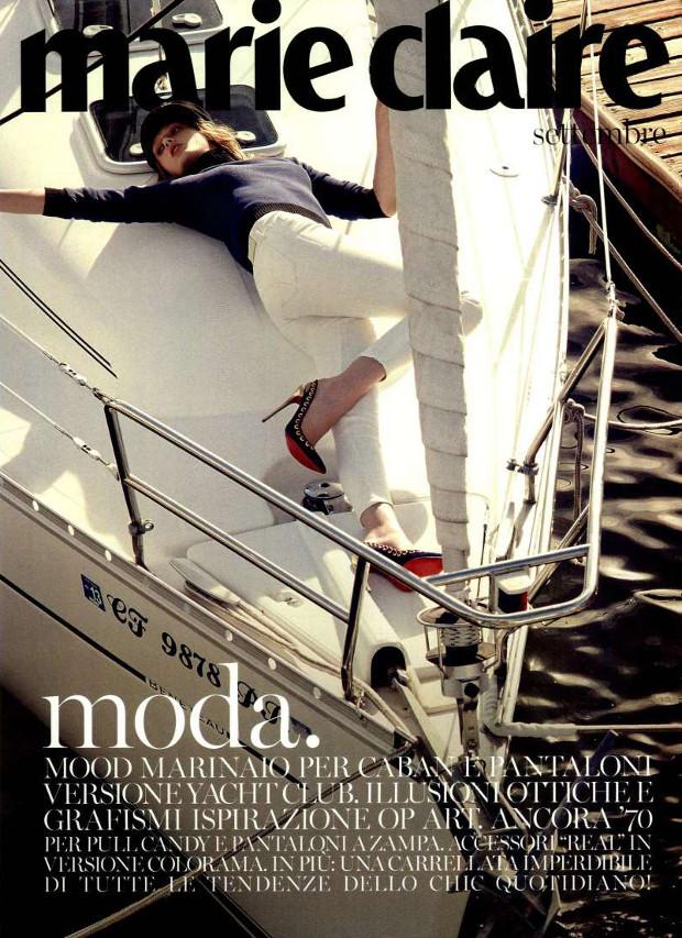 cheap for discount 3fc44 ddd73 Marina Yachting v italijanski izdaji Marie Claire — Lili & Roza