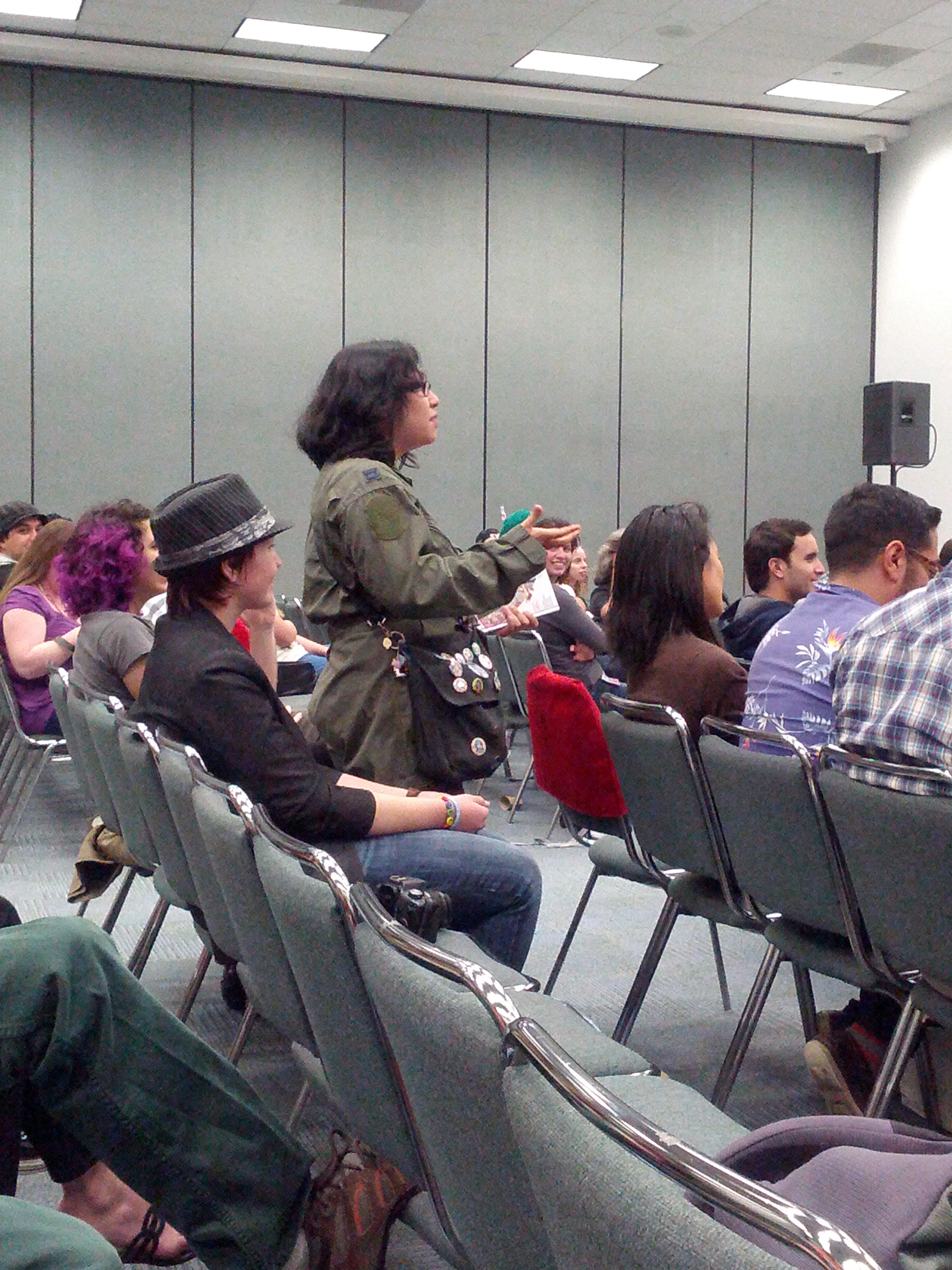 Back to Wondercon: This attendee told creators of Husbands the Series that their work inspired her to create her own transgender superhero.