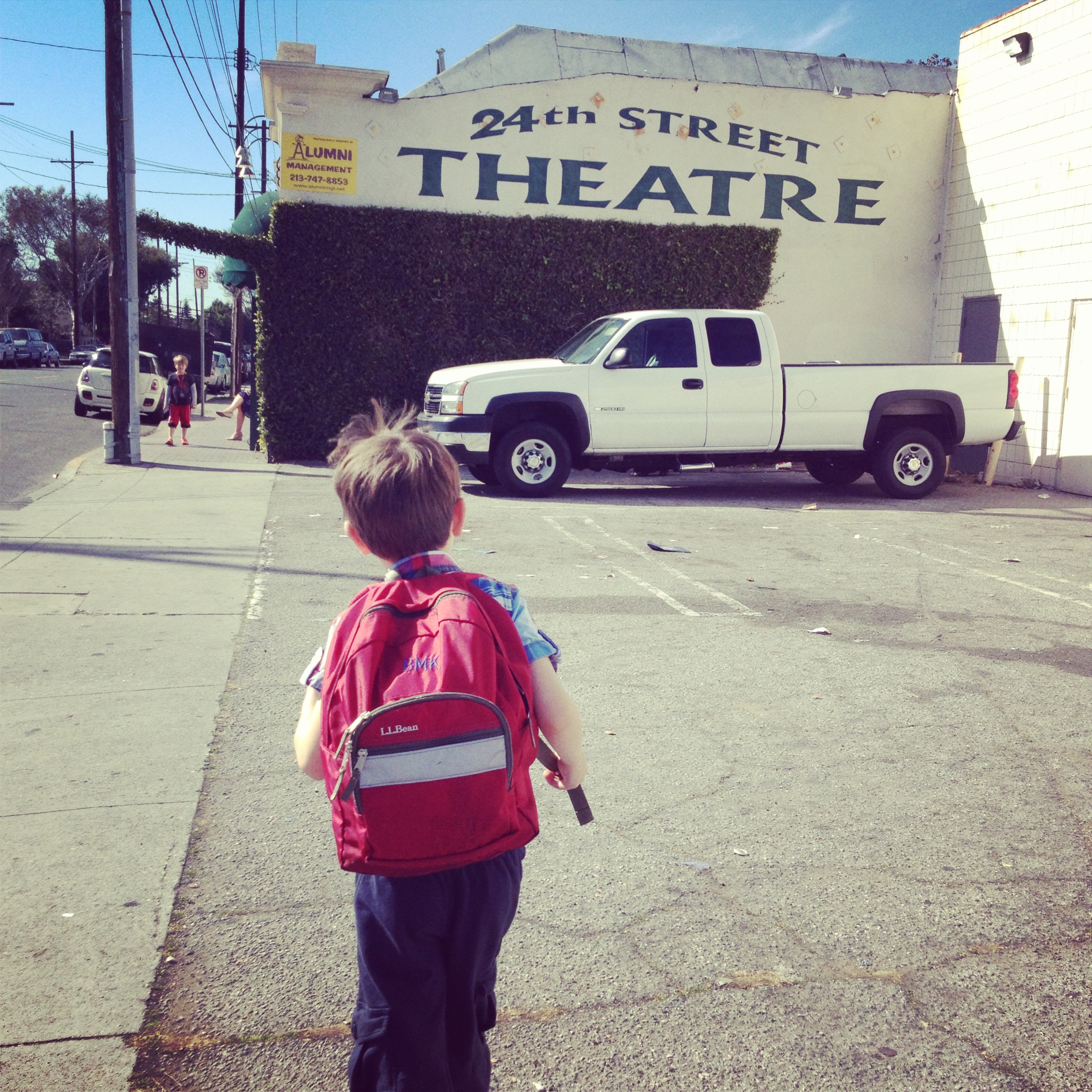 Had to stop into 24th ST Theatre to say hi between shows & see some friends. (Photo by Lindsay of Expressing Motherhood).