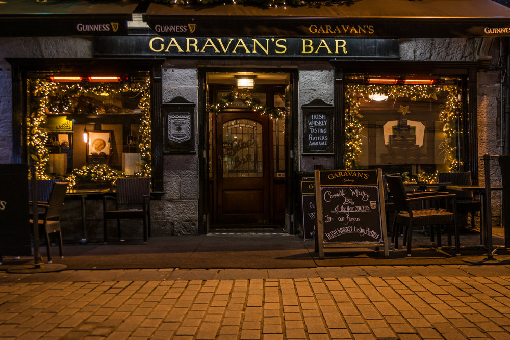 The Award Winning Garavan's whiskey bar in Galway
