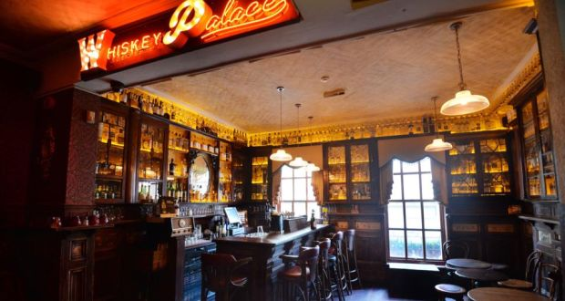 The 'Whiskey Palace' at the Palace bar Dublin