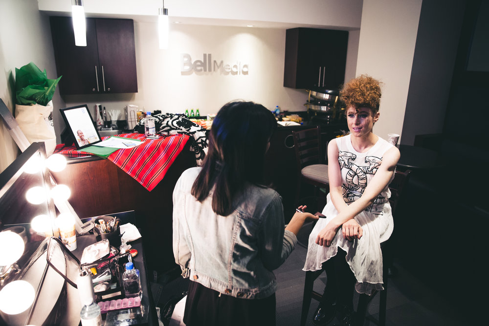 Backstage interview with Kiesza at We Day Toronto for a blog series