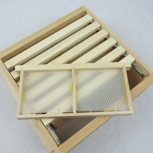 Cedar Section Honey Super with Frames and Ultra-thin Foundation ...