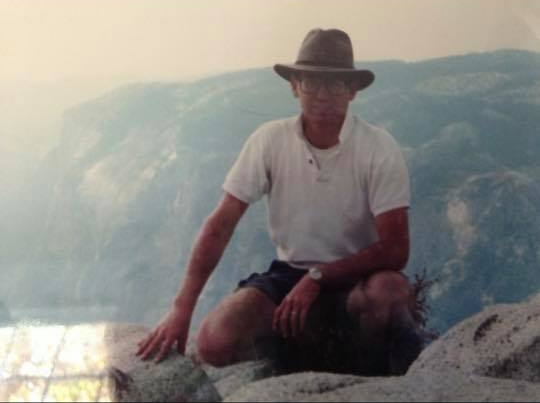 Larry Bell - My father on his 50th birthday. On this day he climbed half dome by himself to do some reflective writing on his life. This was about eight years or so before he passed away, towards the beginning of his illness when he was still strong.