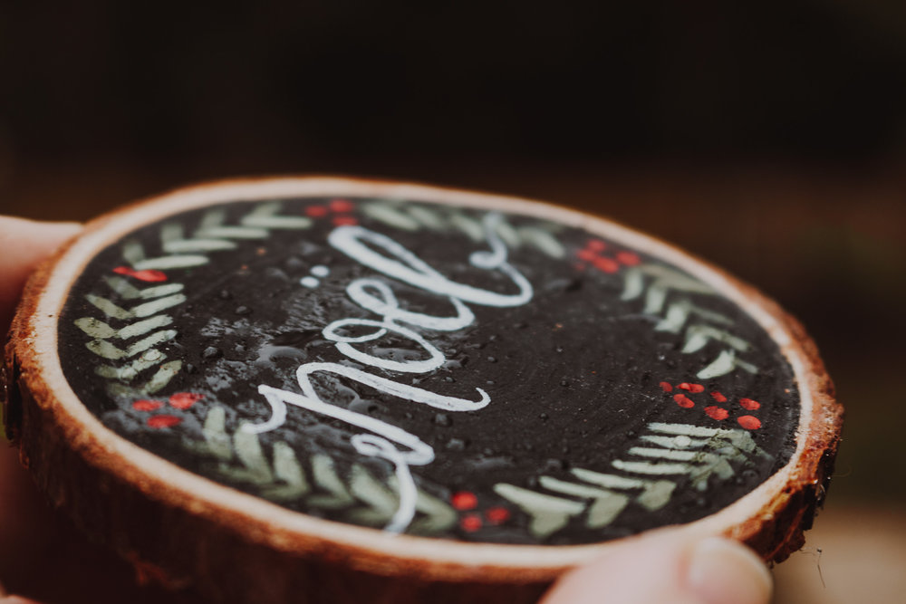 Waterproof Coasters - Wood slice coasters have been surface treated to repel water