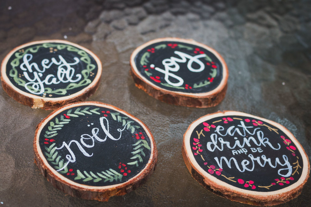 Sets of 4 - Coasters can be sold individually or as a set of 4!$6 each or 4 for $20.