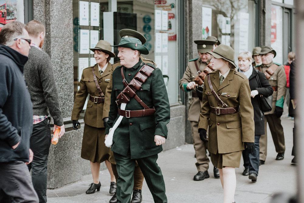 1916 Centenary celebration in Dublin