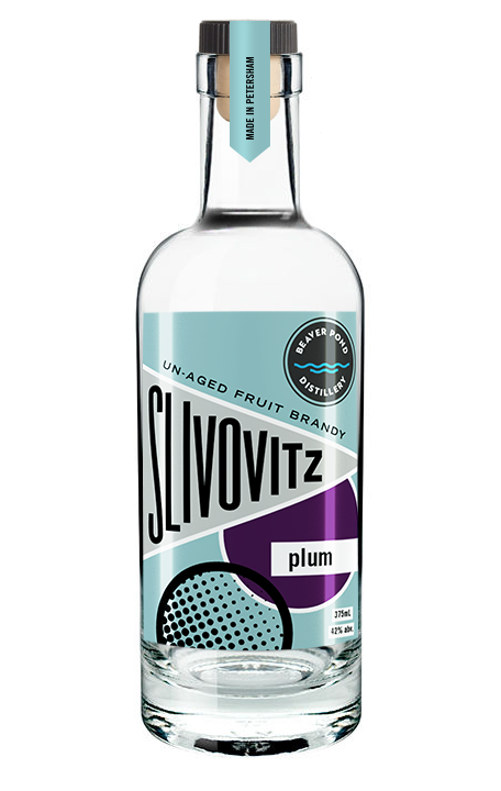 Slivovitz  - Enjoyed throughout Eastern Europe, Slivovitz is an un-aged plum brandy with a unique aroma with a bit of a bite. Ours is made from blue prune and damson plums. We make approximately 150 bottles a year.