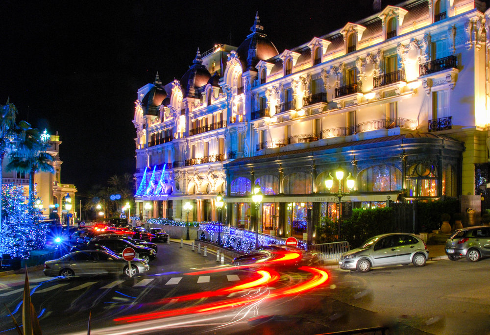 Hotel de Paris Monaco at Night