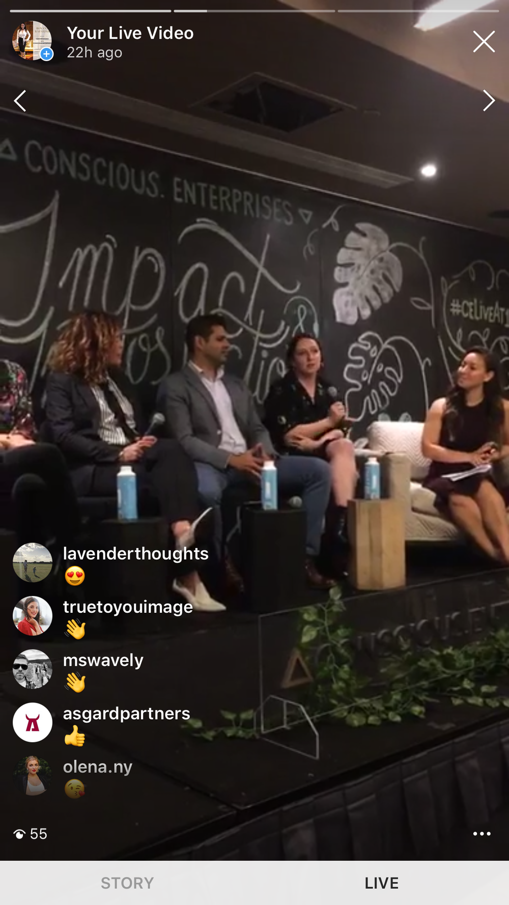 Instagram Live Feed of Conscious Enterprises LIVE @ 1 Hotel