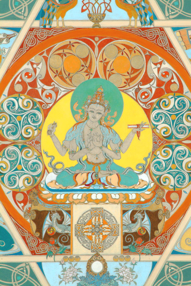 - Prajnaparamita deity (close-up -Celtic Buddhist Mandala)