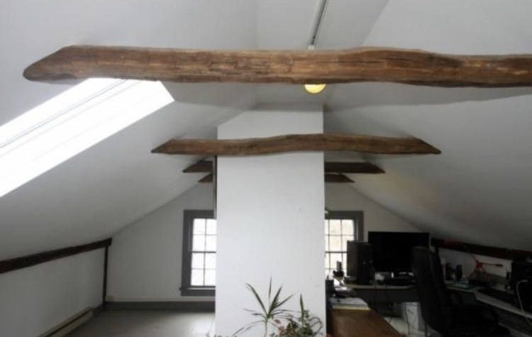 This converted attic space over the Library was used as a home office.
