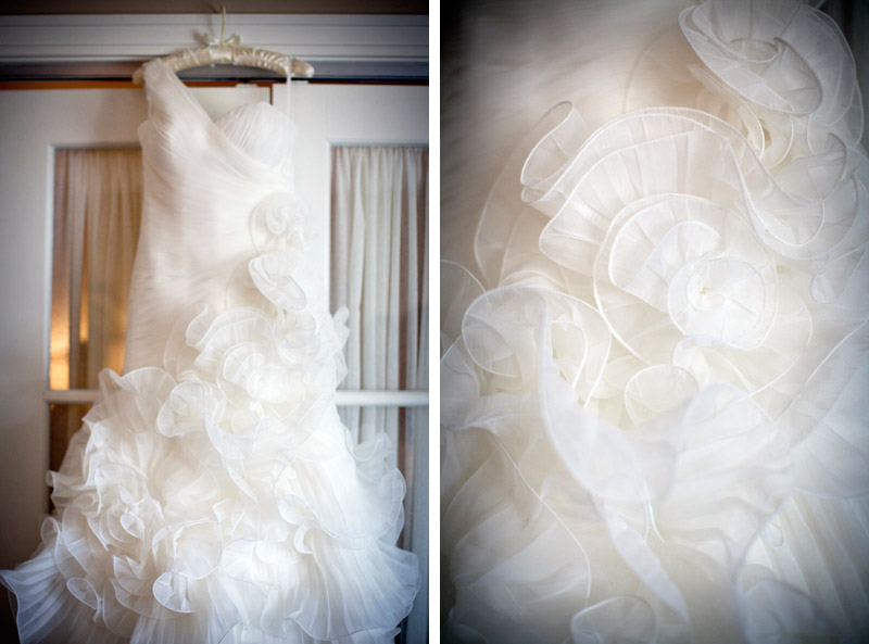 La Sposa wedding gown at Ritz carlton hotel in Half Moon Bay, California.