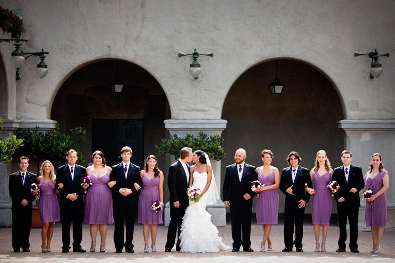 Wedding at Balboa park in San Diego, California.