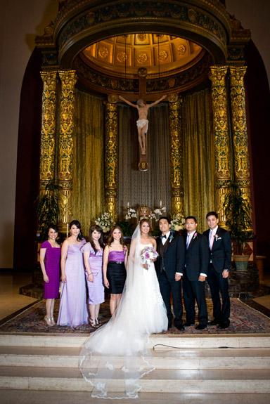 wedding at St. Cecilia Catholic Church in San Francisco