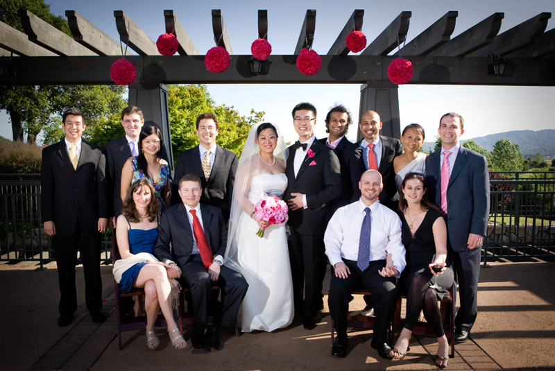 family portrait from a wedding at Stonetree Golf Club in Novato, California
