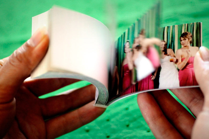 wedding photo booth flip books by alison yin