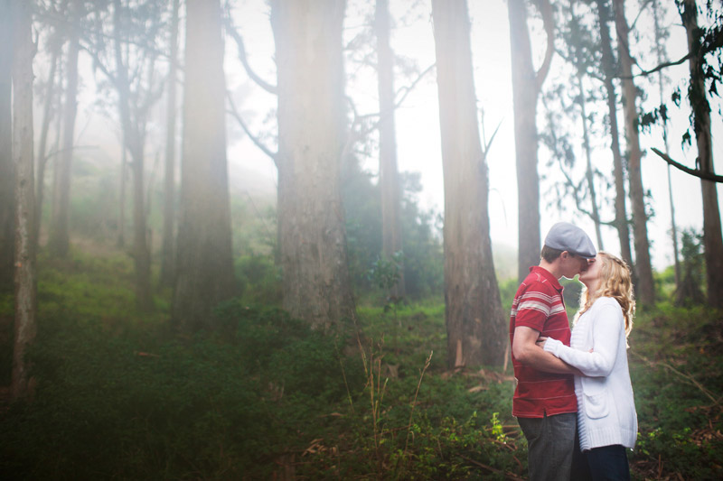Amazing engagement session in the foggy Marin Headlands in Sausalito, California, Bay Area by Alison Yin and Adm Golub