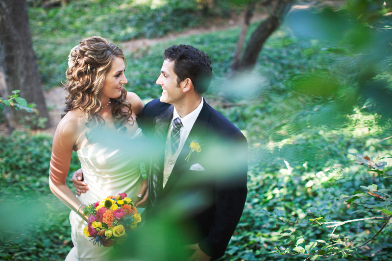 Beautiful summer wedding at Santa Barbara Museum of Natural History in California, September 2011.