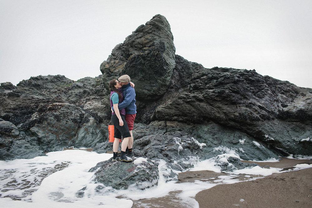 Engagement session of Myrrh Sagy and David McEwan in the Marin Headlands, Calif., Friday, Feb. 19, 2016. Photos by Alison Yin/Alison Yin Photography