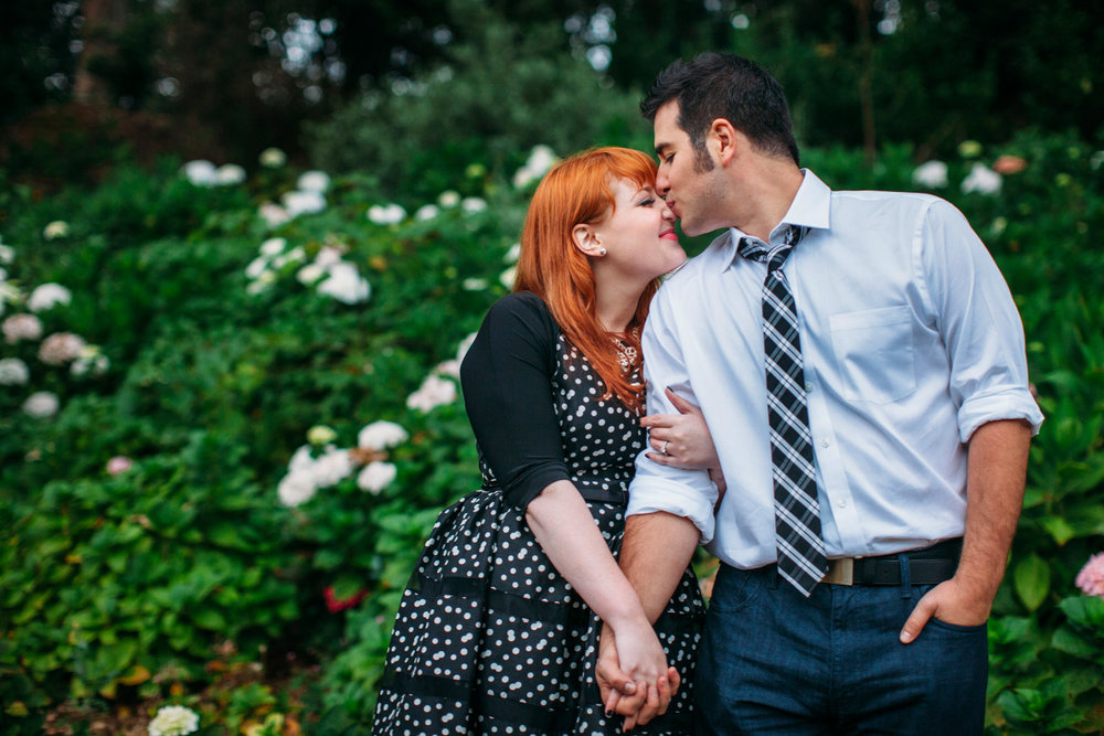 Ashley and Tom in their Golden Gate Park engagement session.