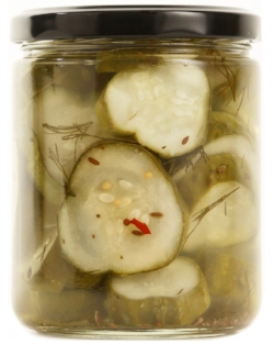 NY DELI DILL   Our NY Deli Dill Pickles are our version of that deli counter classic.  Made with loads of garlic and fresh dill our NY Deli Dills are a bright, tangy, crunch pickle perfect for sandwiches, burgers, or binging Netflix.