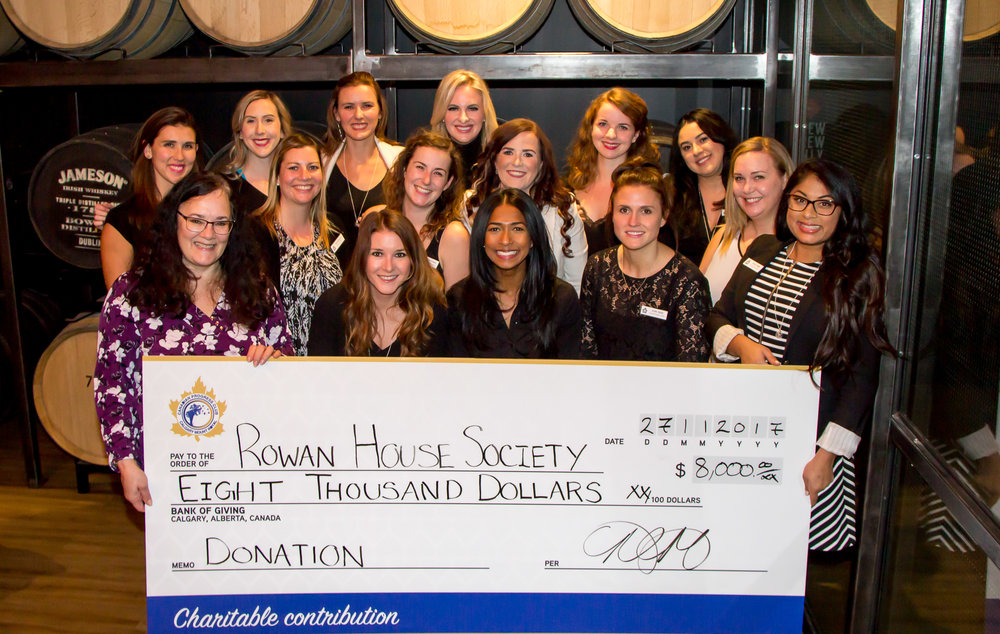 Thrilled to deliver the proceeds from our inaugural golf tournament to The Rowan House!