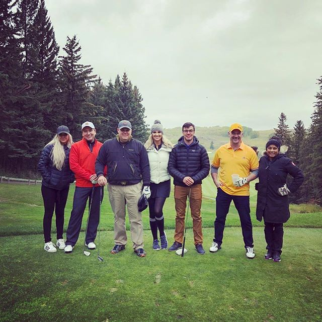 The cold weather hasn't stopped our golfers for coming out to support the #RowanHouse Emergency Shelter at this year's CPC Mount Royal Charity tournament! #calgaryevents #giveback #golftournament #yycgolf