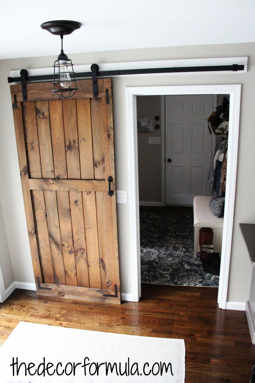 How to Build a Sliding Barn Door... for cheap!! — The Decor Formula