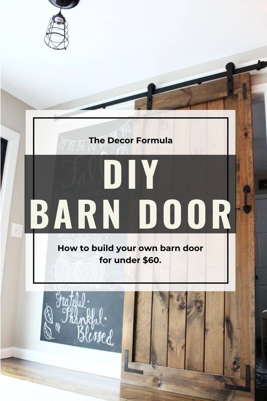 DIY Barn Doors: How to Build a Sliding Barn Door    for