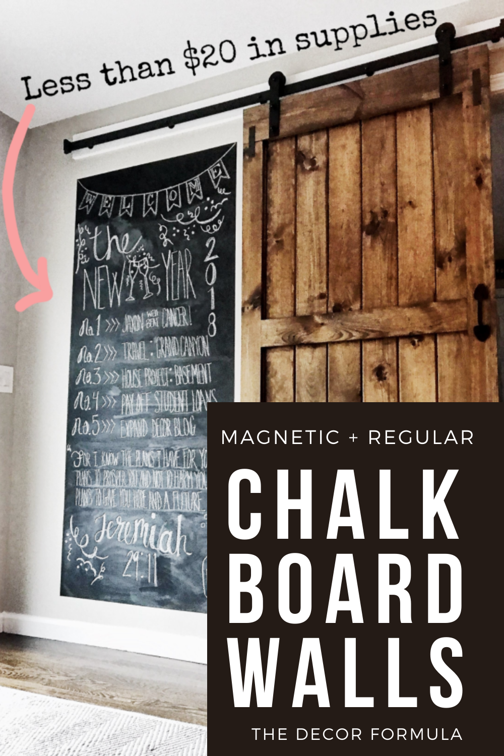 Chalkboard Walls How To Create A Chalkboard Magnetic Wall