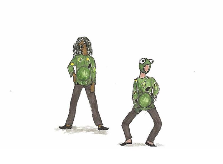 Renderings for creature costumes