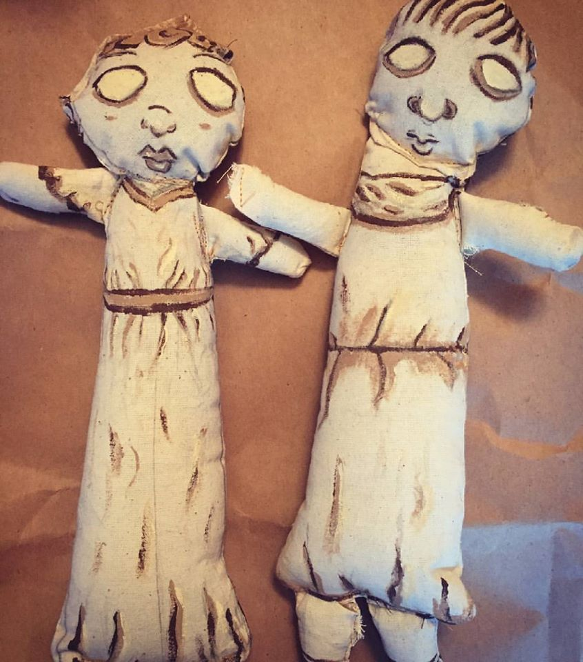 Child's Rod Puppets close up