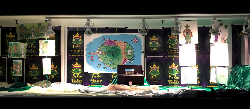 A technical display of  Frog Prince  at Cornish College of the Arts to promote college theatre-goers.