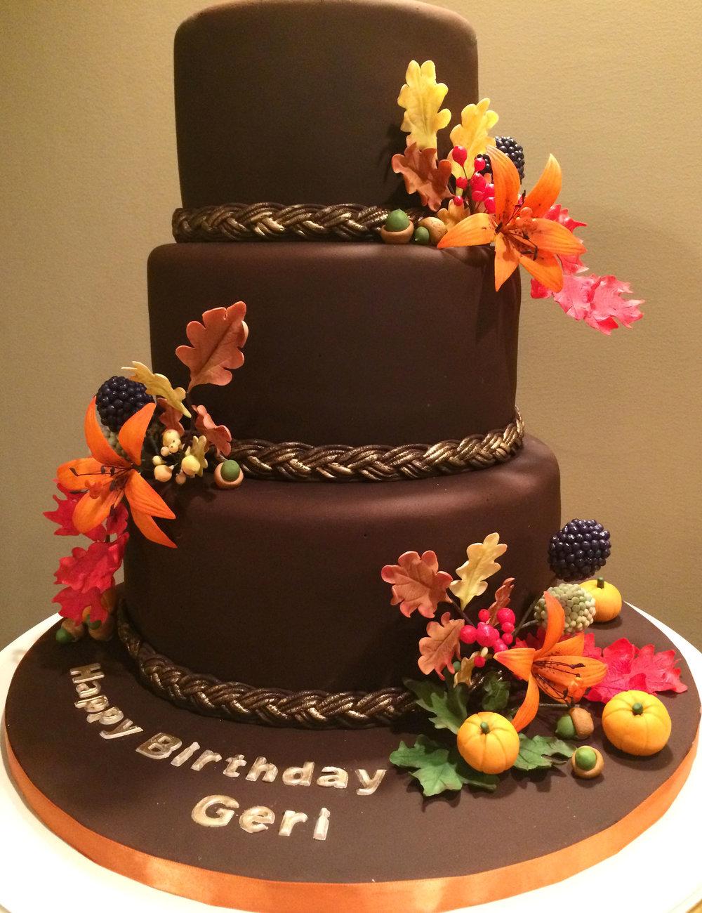 An autumn birthday celebration