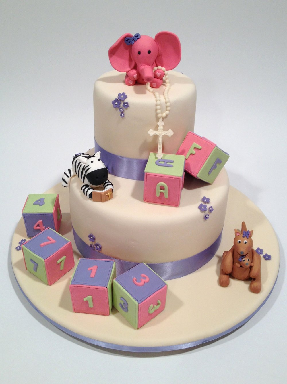 Baby Allison's christening cake