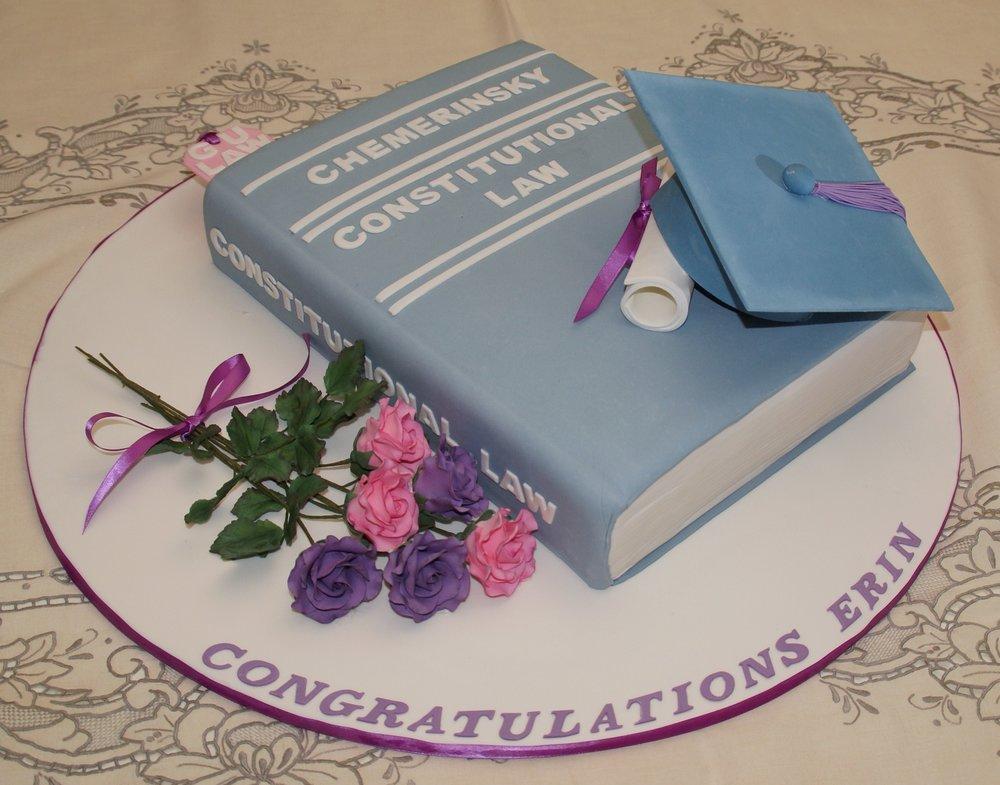 Law-school graduation cake