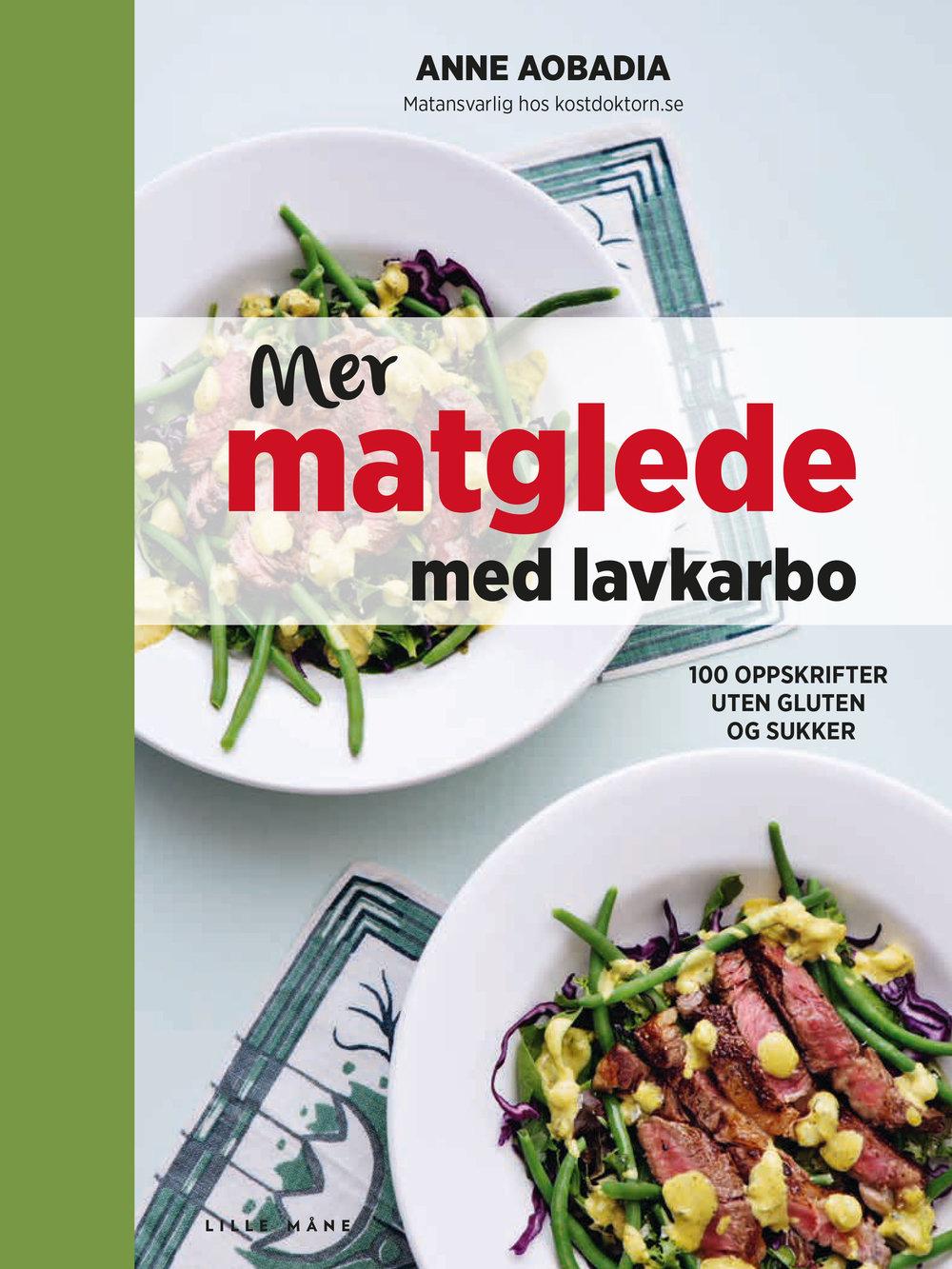 Mer matglede med lavkarbo - av Anne AobadiaVil du ha et slankende kosthold, men samtidig bevare matgleden? Alle kan finne en lavkarbovariant som passer!Med lavkarbo blir det lett å lage sunn mat! Denne oppskriftsboken gir deg alle verktøyene du trenger, og 100 oppskrifter på små og store måltider. Det du slipper i denne kokeboken er gluten og tilsetningsstoffer. Her lærer du hvor lett det kan gjøres å lage mat som hjelper deg med vekten og samtidig gir deg god helse. Mer matglede med lavkarbo er en flott og inspirerende kokebok som vil gi deg lettlaget, sunn og slankende mat!