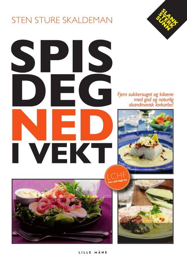Spis deg ned i vekt - av Sten Sture SkaldemanSpis deg ned i vekt – uten å sulte. Bare med god mat på bordet. Skaldemans budskap er viktig: du må få fyr på fettforbrenningsovnen, før du begynner med trening hvis du skal ned i vekt. Han vet hva han snakker om – så hent inspirasjonen og oppskriften i denne banebrytende boken! NÅ PÅ TILBUD – KR 199!Den svenske journalisten Sten Sture Skaldeman har spist seg vekk fra sykdom og overvekt. Det har vært en hyggelig og smakfull lavkarbo-reise.I mange år fulgte han de offentlige kostholdsrådene som anbefalte grønt og magert, brød og poteter, og til slutt viste vekten 140 kilo. Han bestemte seg for å gjøre det helt motsatte og begynte å spise mer protein og naturlig fett. Ved å gå over til den naturlig lavkarbo-maten – uten sukker og stivelse – gjenvant Skaldeman helsen og slanket bort over 65 kilo.