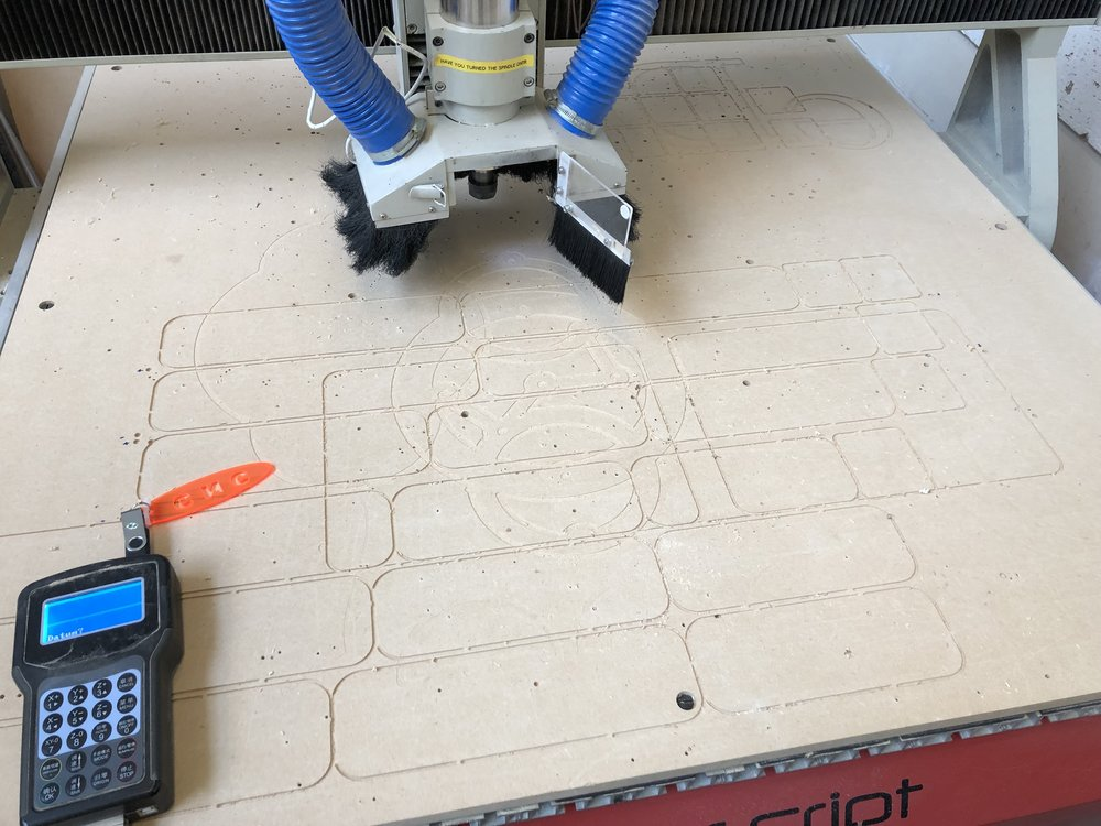 When you cut air on a CNC Router there isn't much to look at :)