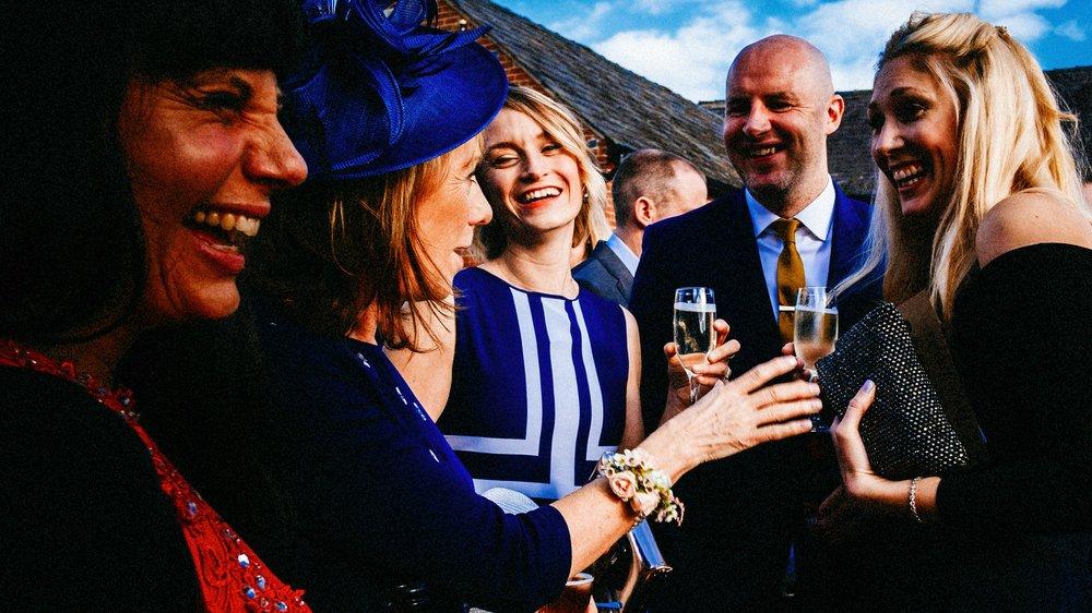 Mum telling a joke. Cheshire wedding